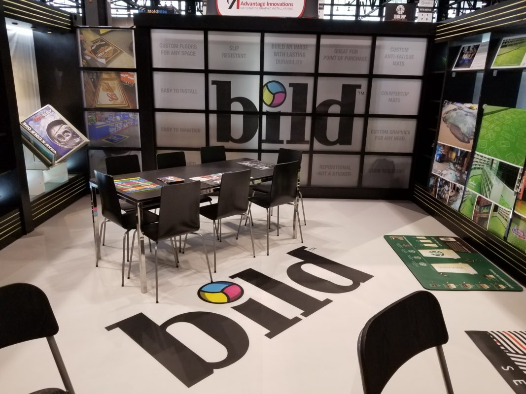 Exhibition Booth Flooring : Unique tradeshow booth ideas use free space above below and